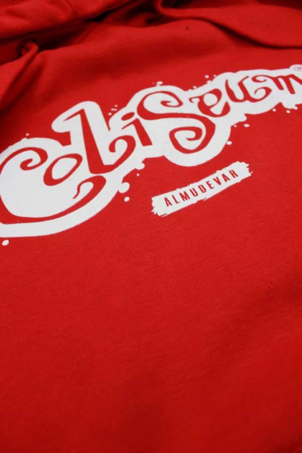 Sudadera Coliseum logo mancha roja