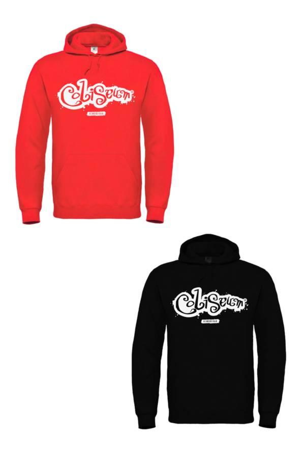 Sudaderas Coliseum logo mancha rojo y negro