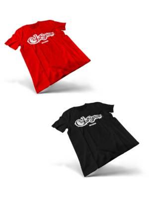 Camiseta Coliseum logo mancha en rojo y negro