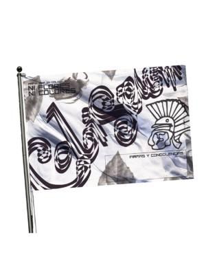 Bandera NI FLORES NI COLORES con palo